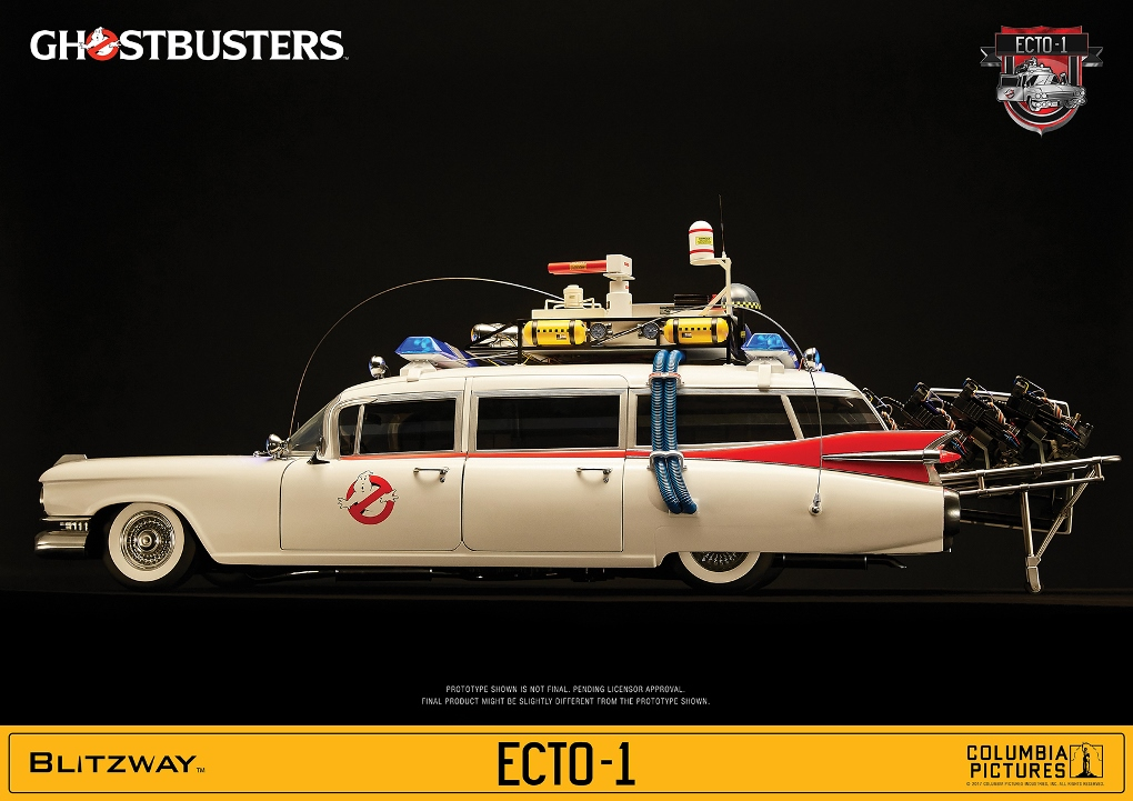 ghostbusters ecto 1 vehicle 1 6 replica by blitzway ca. Black Bedroom Furniture Sets. Home Design Ideas