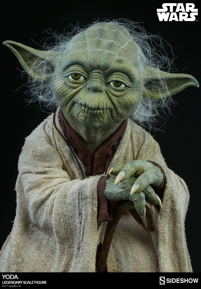 yoda legendary scale 1 2 figure by sideshow collectibles ca 46 cm star wars. Black Bedroom Furniture Sets. Home Design Ideas