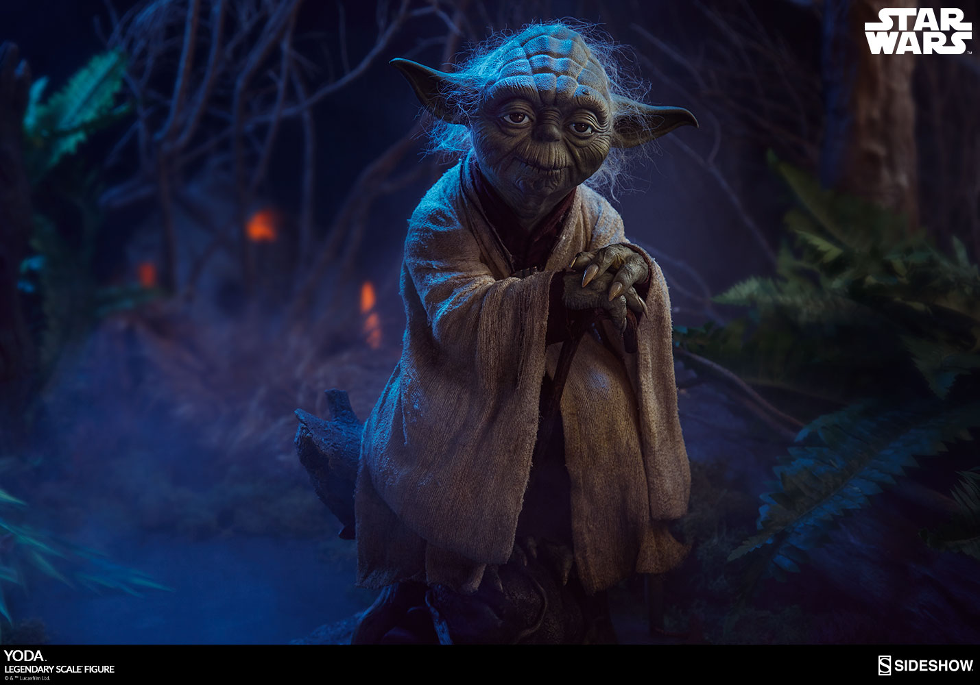 yoda legendary scale 1 2 figure by sideshow collectibles