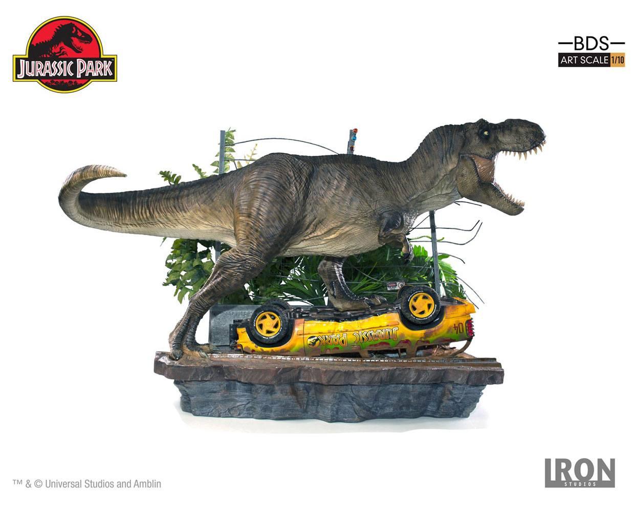 Jurassic Park Art Scale Diorama 1 10 T Rex Attack Set A 56