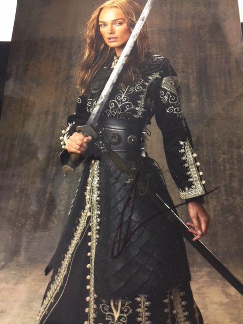 Autogramm Keira Knightley Elizabeth Swann Pirates Of The