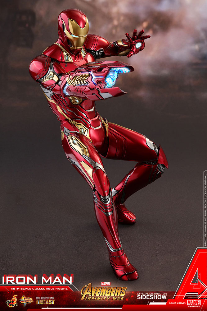 Iron Man Sixth Scale Figure By Hot Toys Diecast Movie Masterpiece Series Avengers Infinity War