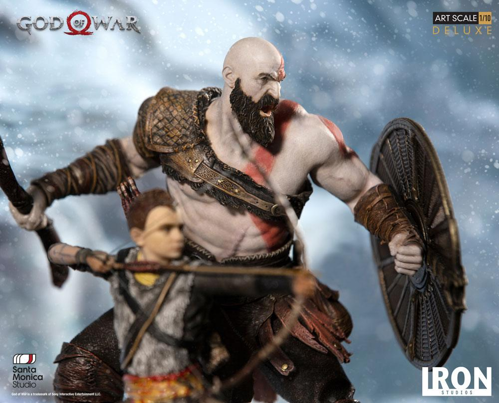 Kratos Atreus God Of War Deluxe Art Scale Statue 1 10 20 Cm By Iron Studios