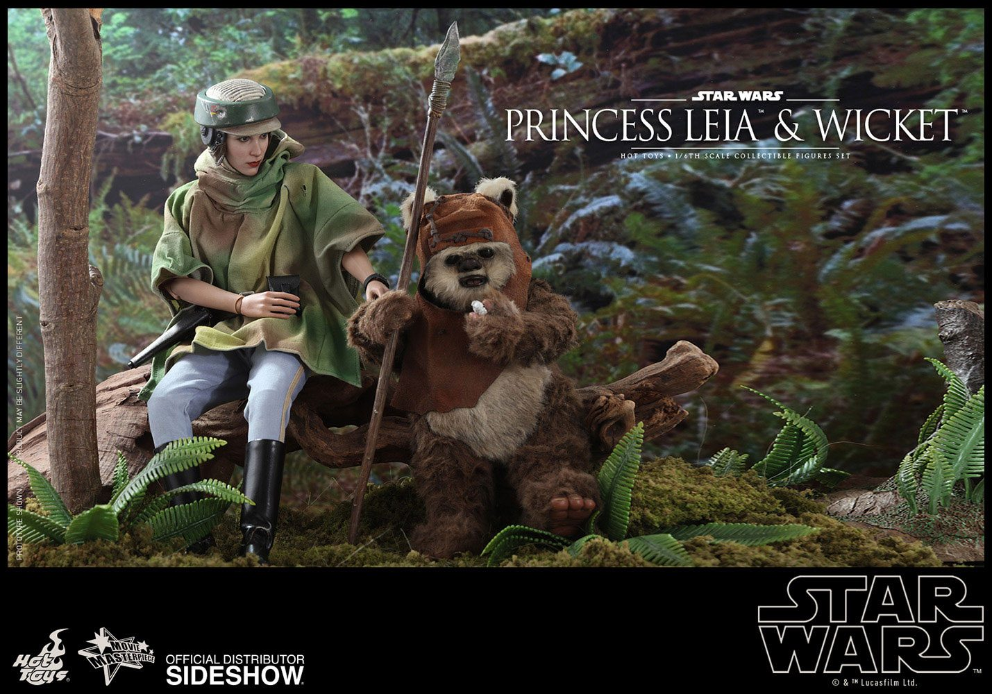 Princess Leia Wicket Sixth Scale Figure Set By Hot Toys Star Wars Episode Vi Return Of The Jedi Movie Masterpiece Series Bunker158 Com