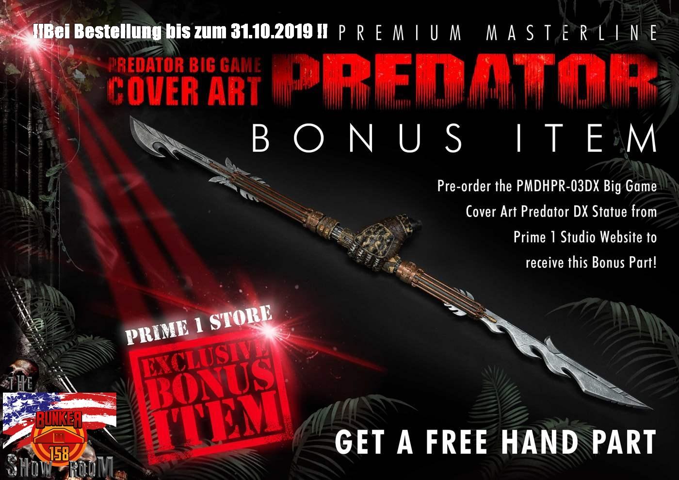 Predator (Comics) Big Game Cover Art Predator Deluxe Version