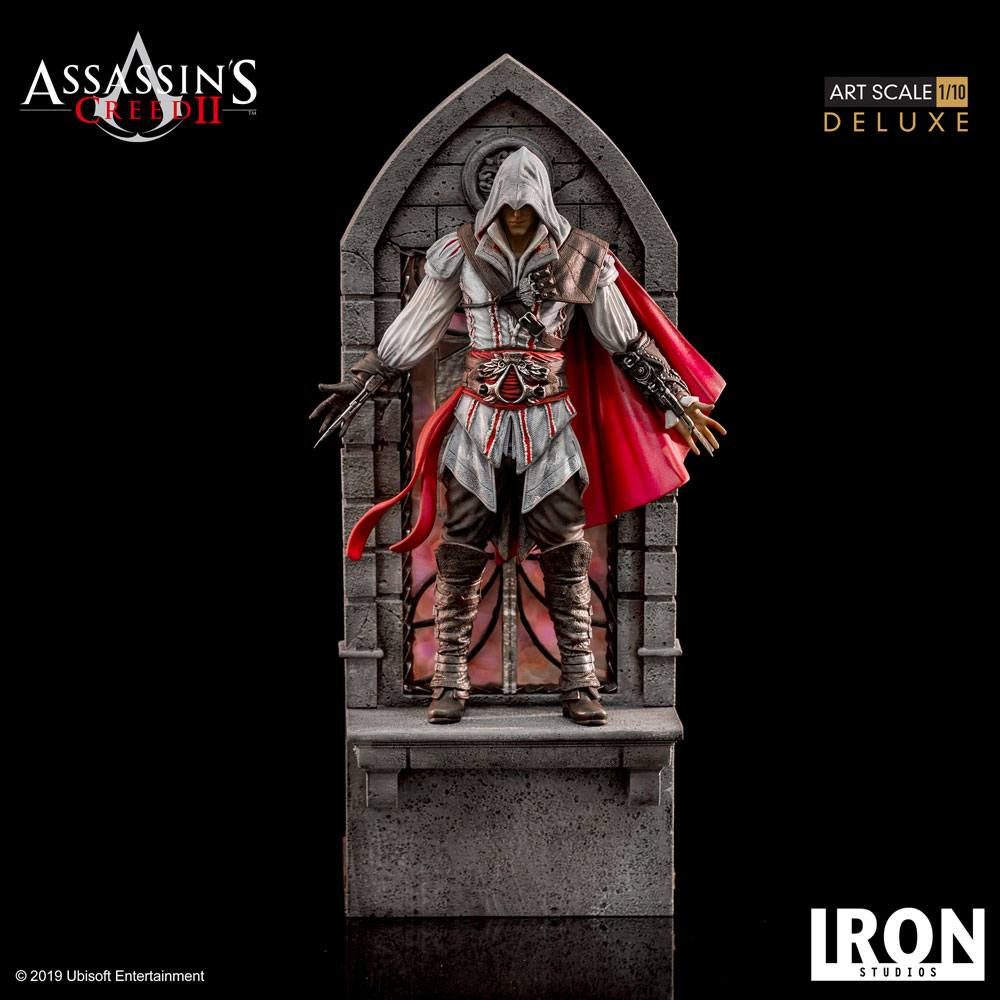 Assassin S Creed Ii Art Scale Statue 1 10 Ezio Auditore Deluxe 31