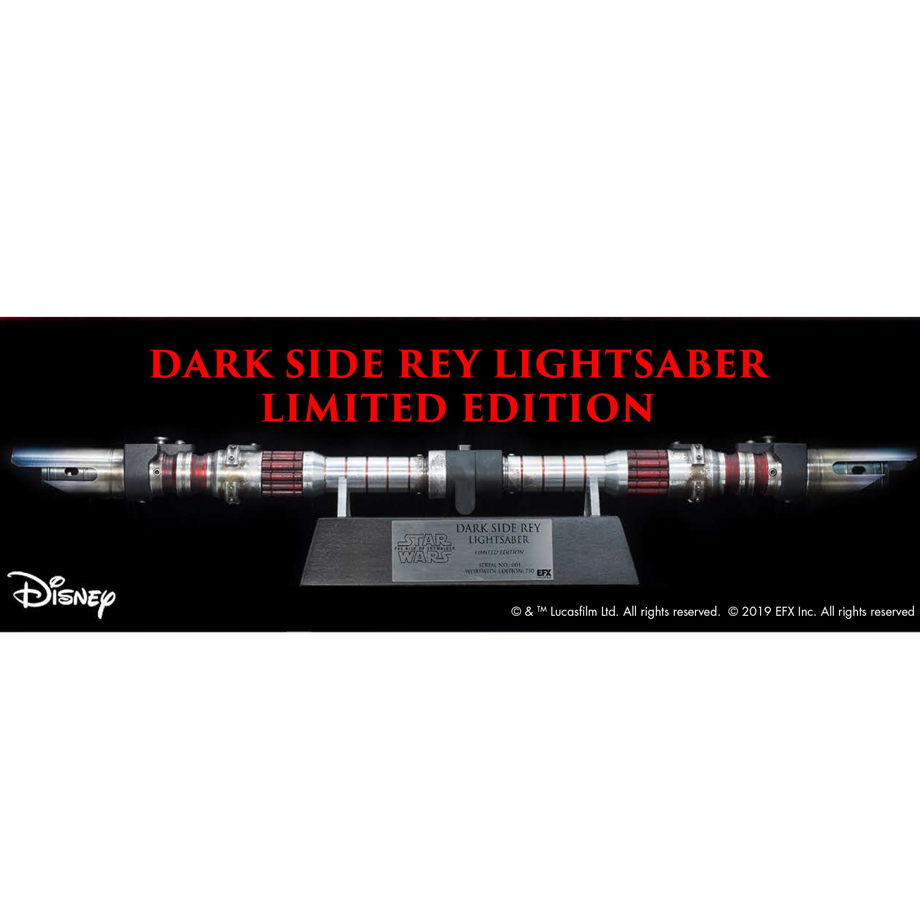 Star Wars The Rise Of Skywalker Dark Side Rey Lightsaber Replica By Efx Bunker158 Com