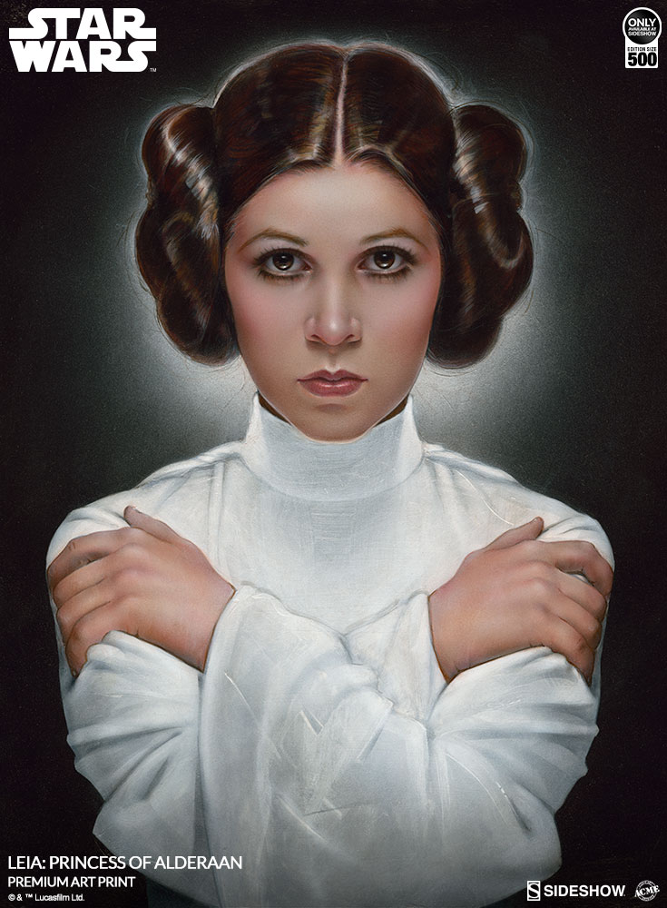 Leia Princess Of Alderaan Art Print By Acme Archives Sideshow Star